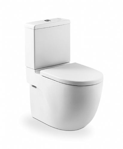 Roca Meridian-N Compact Close To Wall Toilet With Dual Flush Cistern - Standard Seat - White